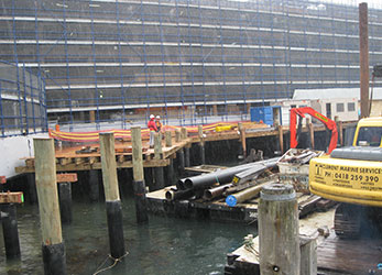 Wharf-Construction